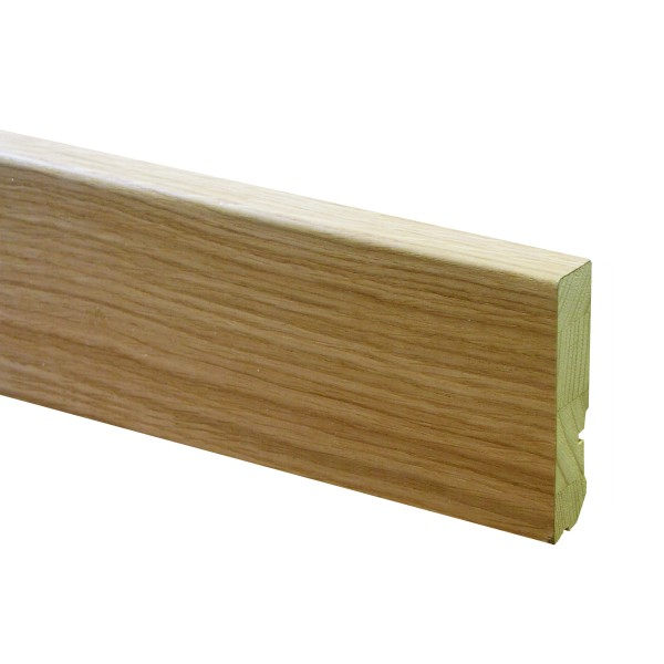TRECOR® Holz Sockelleiste, Parkettleiste EXCLUSIV, furniert, Echtholzummantelt, Format: 18 x 80 mm