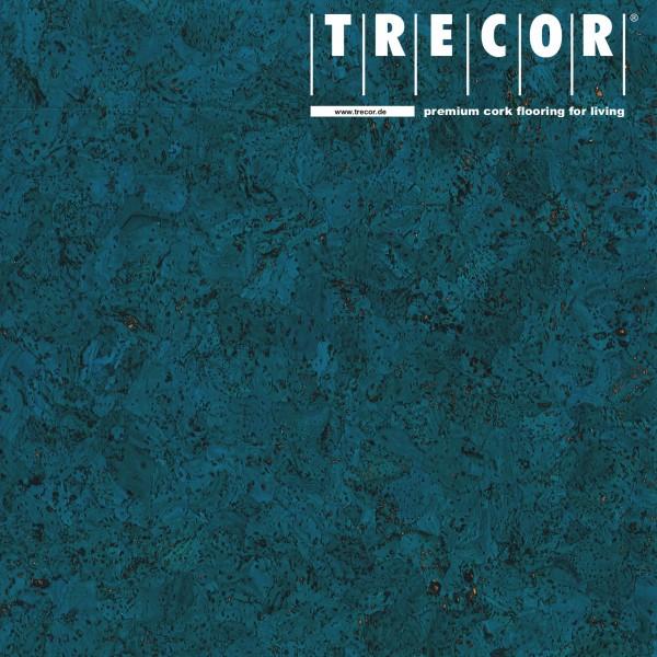 "TRECOR® Korkboden mit Klicksystem ""EVORA"" Korkfertigparkett - 10,5 mm Stark - Farbe: Signalblau"