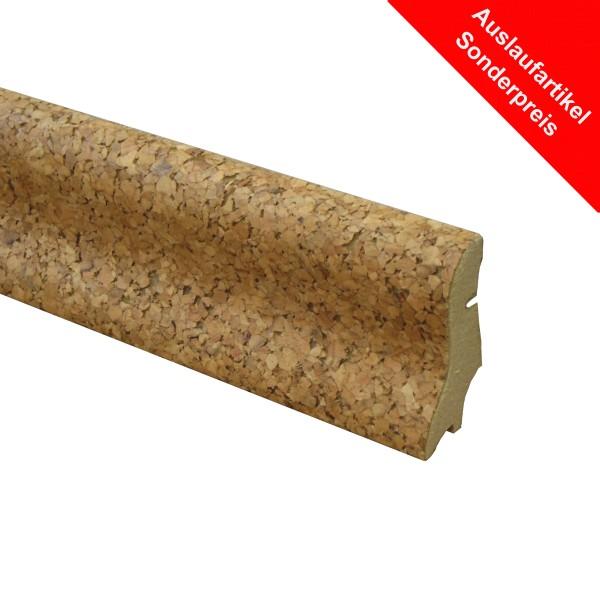 TRECOR® Korksockelleiste Kork-FEIN, Fußleiste, Sockelleiste Kork, Serie: BASIC, Format: 20 x 40 mm
