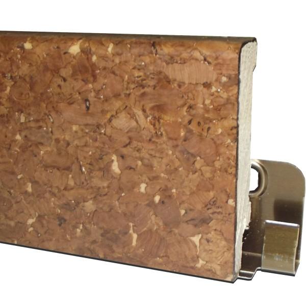 "TRECOR® Korksockelleiste ""GROB"" mit Echtkorkoberfläche, Höhe: 60 mm, Tiefe: 16 mm, Länge: 250 cm"