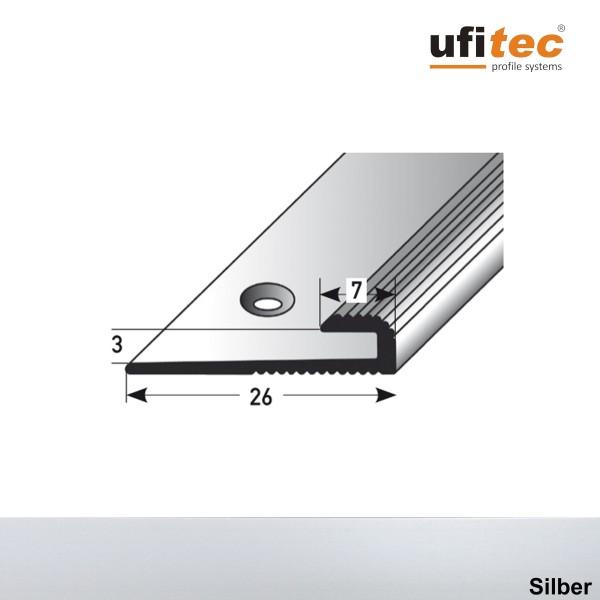ufitec® Einschubprofile / Abschlussprofile - für Belagshöhen von 3 mm - Alu eloxiert
