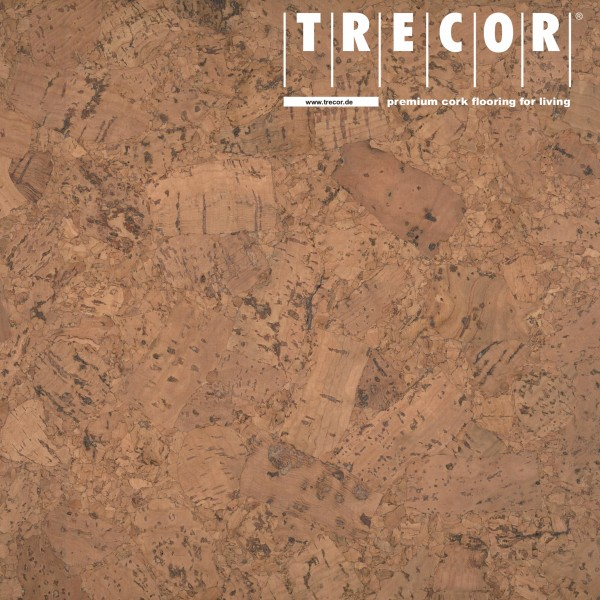 "Korkboden TRECOR® CLASSIC ""Klebekork ""FORTI"" Stärke: 4 mm, Oberfläche: ROH - Farbe: Braunrot"