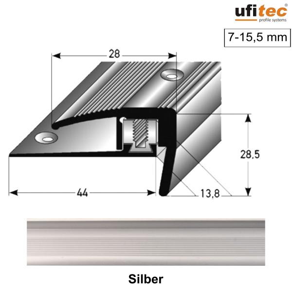 ufitec® Treppenkantenprofil - TPL FLEX - für Belagshöhen von 7-15,5 - Sichtkante: 28 mm;