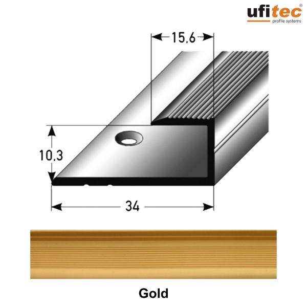 ufitec® Einschubprofile / Abschlussprofile - für Belagshöhen von 8-15 mm - Alu eloxiert
