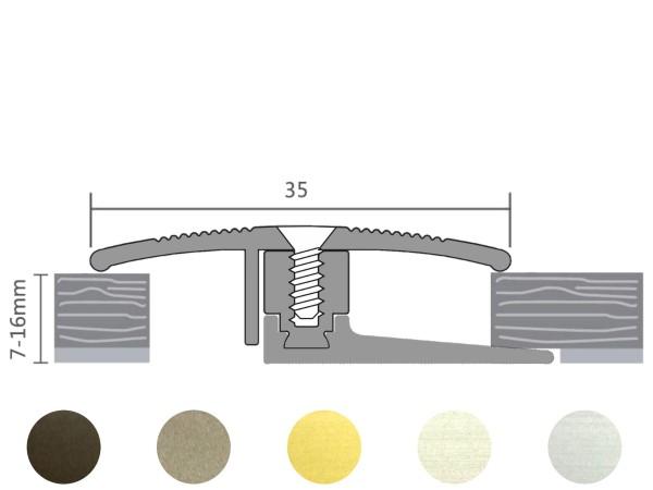 ufitec® TPL Flex Übergangsprofil / Höhenausgleich für Belagshöhen von 7-16 mm