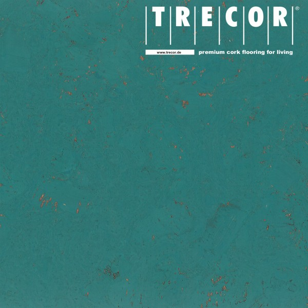 "Korkboden TRECOR® CLASSIC ""Klebekork ""FRAMENTO"" Stärke: 4 mm, Oberfläche: ROH - Farbe: Minttürkis"