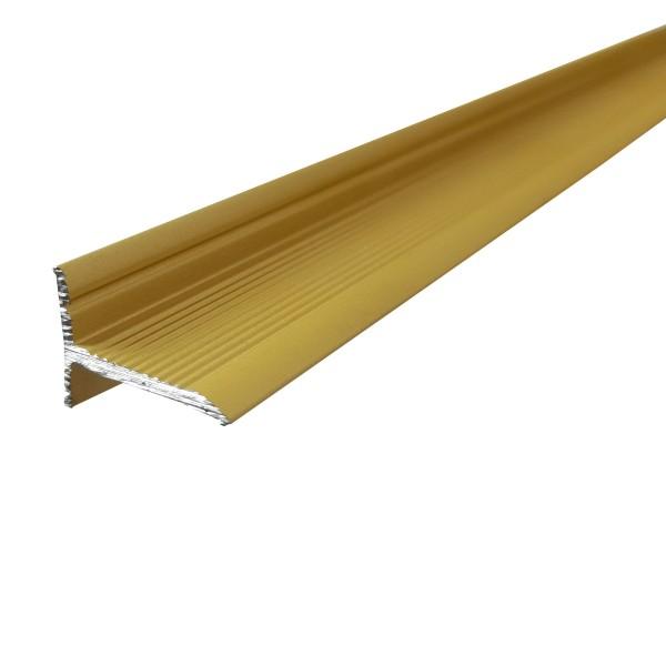 ufitec® Sockelprofil SK für den perfekten Abschluß an Balkon- und Terassentüren, Gold Hell eloxiert