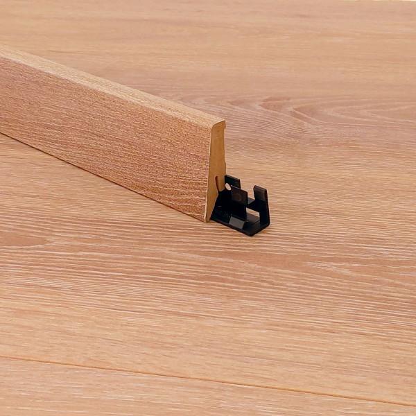 Kronotex® Laminatboden Sockelleiste - Stirling Oak Medium D2805 - Material: MDF gerade Form