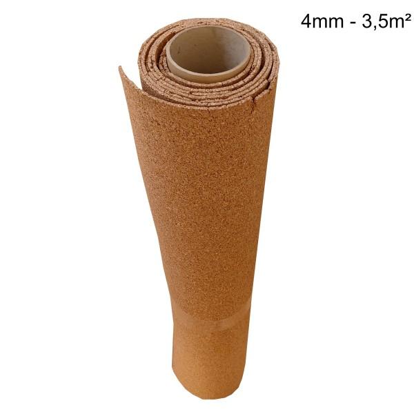 Rollenkork Kork Trittschalldämung Stärke: 4 mm, 3,5 qm Rolle - Rolle leicht beschädigt