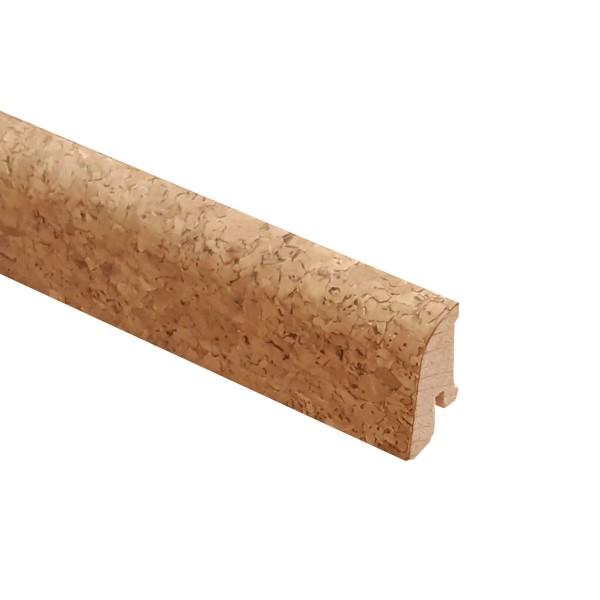 TRECOR® Korksockelleiste Kork-Grob, Fußleiste, Sockelleiste Kork, Format: 19 x 38 mm