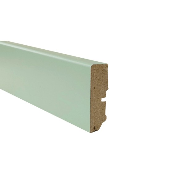 TRECOR® Sockelleiste Laminatsockelleiste Fußleiste Serie EXCLUSIV COLOR 16 x 58 mm, Weißgrün