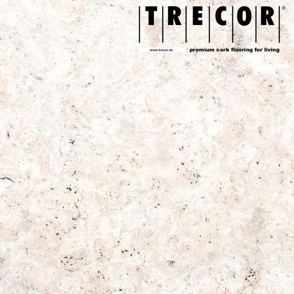 "TRECOR® Korkboden mit Klicksystem ""EVORA"" Korkfertigparkett - 10,5 mm Stark - Farbe: Weiß"
