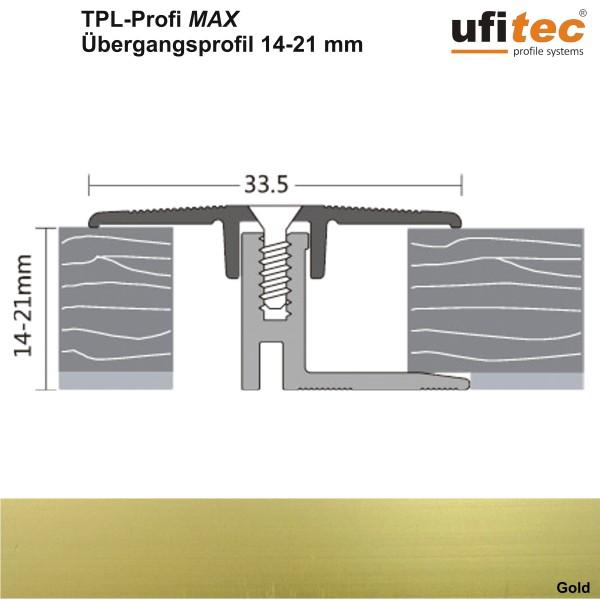 Dehnungsfugenprofil / Übergangsprofil ufitec® TPL Profi max - Belagshöhen 14-21 mm, Breite: 33 mm