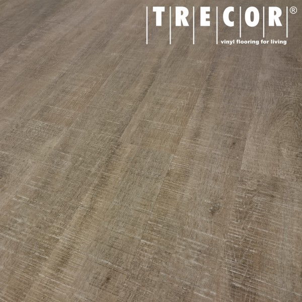 TRECOR® Vinylboden - Klebevinyl Eiche Struktur Landhausdiele (1 Stab) mit micro V-Fuge - 2 mm