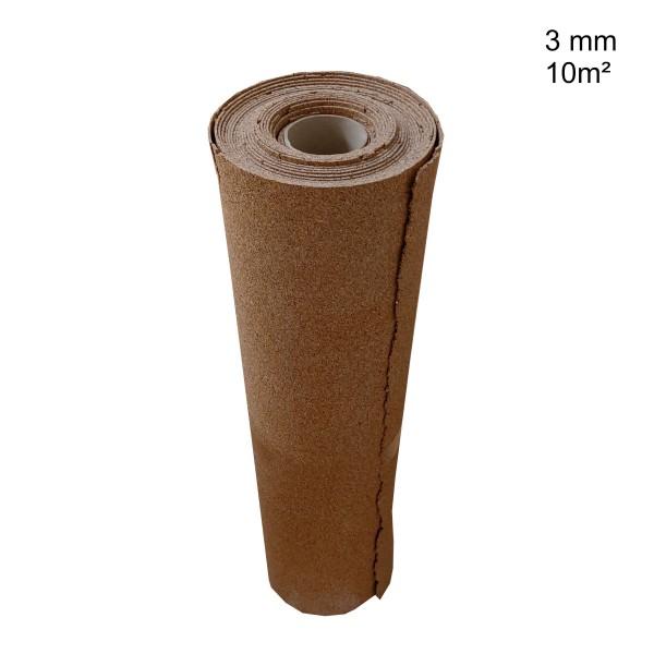 Rollenkork Trittschalldämung Rollkork, Stärke: 3 mm, 10 qm Rolle - Rolle leicht beschädigt