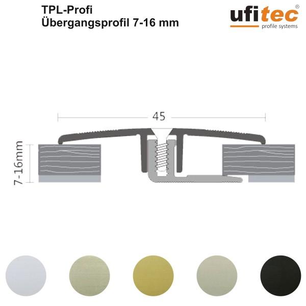Dehnungsfugenprofil / Übergangsprofil ufitec® TPL Profi für Belagshöhen von 7-16 mm, Breite: 45 mm