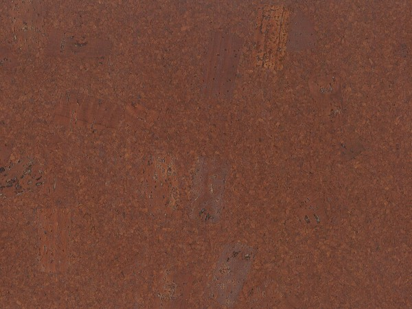 Korkboden TRECOR® CLASSIC Klebekork FORTI Stärke: 4 mm, Oberfläche: ROH - Farbe: Mahagonibraun